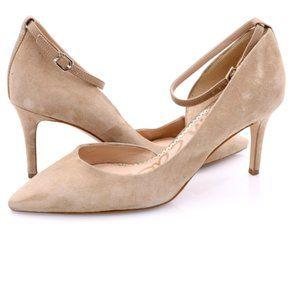 Sam Edelman Womens Tia Beige Ankle Strap Heels